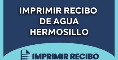 imprimir recibo de agua hermosillo