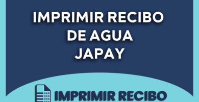 imprimir recibo de agua japay