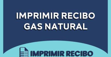 imprimir recibo de gas natural