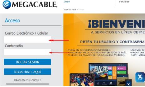 acceso cuenta megacable