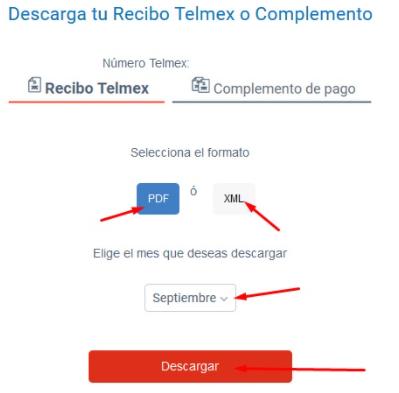 descargar recibo telmex
